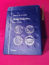 Whitman Blue Tri-Fold Coin Folder #9102 One A Year Nickel Collection 1913-Date
