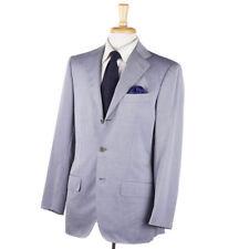 NWT $8495 KITON NAPOLI Sky Blue Twill Cashmere-Cotton-Silk Suit 38 R (Eu 48)