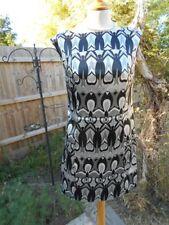 Robe People Monochrome Taille 12 années 60 style Faux Satin De Soie très flatteuse mod