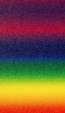 A4 Glitter Card BRIGHT RAINBOW Cardstock Premium Low Shed 250gsm Packet of 5