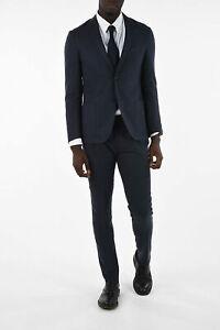 CORNELIANI men Formal Outfits Size 54 Ita Blue Linen Silk Suit GATE Blue 54 (...