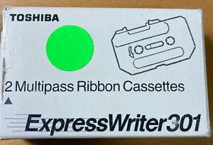 Farbband für Toshiba Expresswriter301 schwarz 2 Multipass Ribbon Cassettes