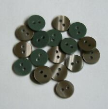 12 x 10mm Pale Green Square Buttons #1299