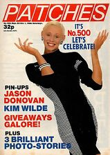 Patches Magazine 23 September 1988 Issue 500      Kim Wilde      Rob Lowe