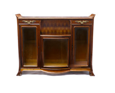 C. 1900 Louis Majorelle Bronze Mounted Mahogany Marquetry Cabinet