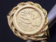 10k yellow gold 1/20 oz Panda coin ring - COPY