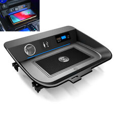 Qi Wireless Car Fast Phone Charger Pad Center Console Kit For Toyota RAV4 19-20