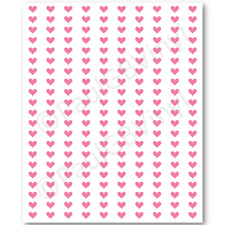 210 HEART STICKERS SMALL 1 CM FOR PLANNERS, SCRAP BOOKS, CRAFTS, WINE GLASSES