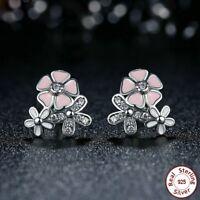 1 pair Fashion Jewelry 925 Silver Daisy Flower Trendy Women Ear Studs Earrings