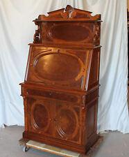 Antique American Victorian Walnut Slanted Drop Front Desk