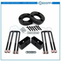 """2"""" Front & 2"""" Rear Leveling Lift Kit For Nissan Titan 2004-2018 2WD & 4WD Black"""