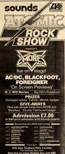 4/7/1981Pg35 Sounds Atomic Rock Show Concert Advert 15x5 (more, Ac/dc, Blackfoot