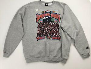 Denver Broncos 1997 Super Bowl Champs Starter Pullover Sweatshirt New XL USA