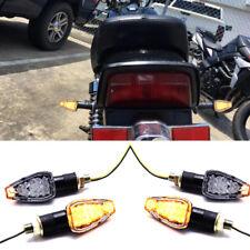 4x Black Turn Signal LED Dual Sport Motorcycle dirt bike light blinker mx mini