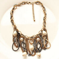 "New Chicos 16"" Bib Collar Statement Necklace Gift Vintage Women Party Jewelry FS"