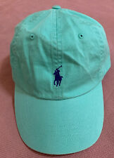 Polo Ralph Lauren Men's Cotton Chino Baseball Cap Sports Hat Mint Green NEW Tags