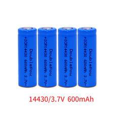 2pcs ICR 14430 Li-ion Rechargeable Battery 600mAh 3.7V US Free Shipping