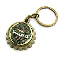 Guinness Ireland Collection Brass Crown Cap Bottle Opener Keyring 5350