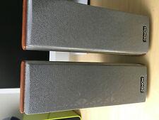 Denon sc-a500sd * altavoces satélites par de boxeo aluminio/madera cereza