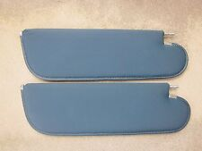 OEM ORIGINAL GM 1971-1972 GTO single pin stile sun visors Dark Blue perforated