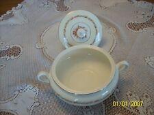 Steubenville Vtg Pottery Ceramic Floral Pattern Round Covered Vegetable Bowl