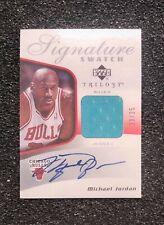 2006 Michael Jordan Signature Swatch Trilogy Autograph Card.  ACEO RP Card Mint