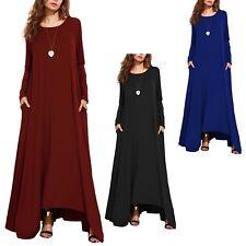 Vestito Donna Abito Lungo a Tunica Asimmetrico Woman Maxi Tunic Dress 110327B P