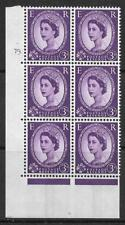 3d Wilding Violet 9.5mm Phosphor CB cyl 79 Dot perf A(E/I) UNMOUNTED MINT