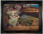 Alma Tadema In a rose garden 1890 Wood Framed Canvas Print Repro 12x16