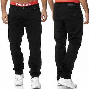 Herren Jeans Hose Stretch Übergröße Übergrößen 5 Pocket Jeanshose SCHWARZ Blau