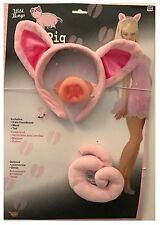 Sexy Pig Animal Kit With Ears Headband, Nose And Tail Adult Costume Accessory