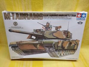 TAMIYA M-1 ABRAMS U.S.M-1 ABRAMS MAIN BATTLE TANK 1/35 SCALE MODEL KIT Sealed