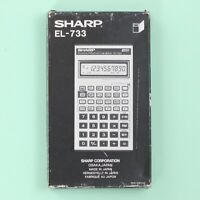 Vintage Sharp EL-733 Business/Financial Calculator with Box & Manual