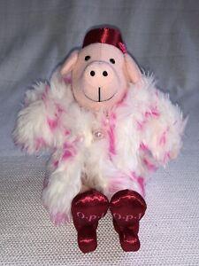 "Rare OPI Nail Polish Lacquer Advertisement Pig 11"" Plush Soft Toy Stuffed Animal"