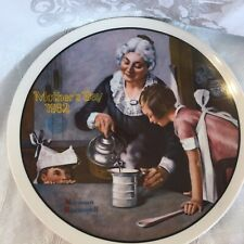 Cooking Lesson-Mothers Day 1982 Norman Rockwell Decorative Plate
