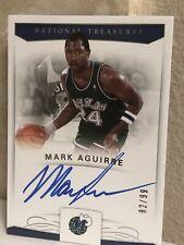 2017-18 National Treasures Signatures Mark Aguirre On-Card AUTO MINT SP /99