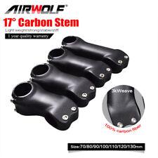 17 Degree 3K T800 Full Carbon Bike Stems for Handlebar &Fork in MTB/Road Bicycle