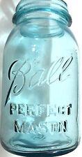 Vintage Ball PERFECT MASON Blue Jar #15