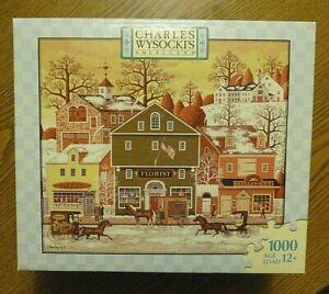 Charles Wysocki MEAT FLOWERS HAT 1000 Piece Puzzle Vintage 2006 COMPLETE & RARE