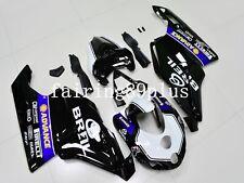 White Black BREIL ABS Injection Fairing Kit Fit for Ducati 749 999 2005 2006