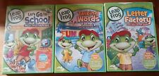 Leap Frog set of 3 Dvds Let's Go to School, Talking Word, Letter Factory
