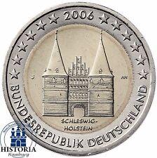 Deutschland 2 Euro Holstentor Lübeck Gedenkmünze 2006 Stempelglanz Mzz J