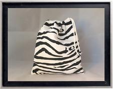 Gymnastics Leotard Grip Bags / Black n White Zebra Gymnasts Birthday Goody Bag