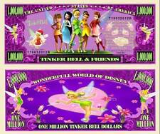 LA FEE CLOCHETTE & SES AMIES! BILLET MILLION DOLLAR! PETER PAN TINKERBELL Disney