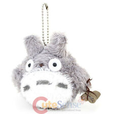 "My Neighbor Gray Totoro with Acorn Bag 4"" Mini Plush Doll Key Chain Phone Charm"