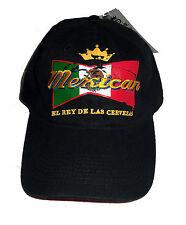 """NEW """" MEXICAN EL RAY DE LAS CERVEZAS """" THE BEER KING HAT ADJUSTABLE VELCRO"""