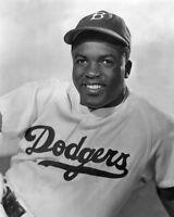 Brooklyn Dodgers JACKIE ROBINSON Glossy 8x10 Photo Print Poster Portrait