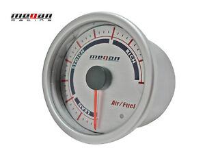Megan Racing Air Fuel Ratio Meter 52mm Silver Gauge LED lamps MR-MG-AF V2