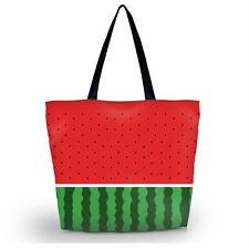 Cute Watermelon Women's Shopping Shoulder Tote Handbag Folding Reusable Eco Bag