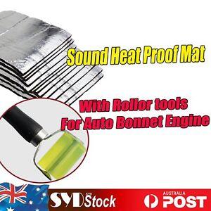 19.3Sq ft Auto Hood Heat Shield Sound Proof Foam Insulation Mat W/ install Kit